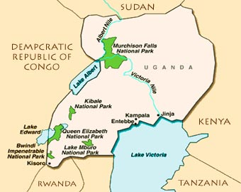 Queen Elizabeth National Park -Uganda map